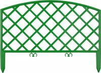 Забор декоративный Grinda Плетень, 24x320см, зеленый 422207-G
