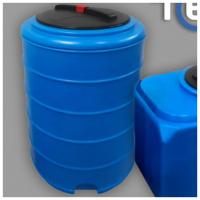 Бак для воды Terra RVP200 круглый - синий (с ребрами жесткости)