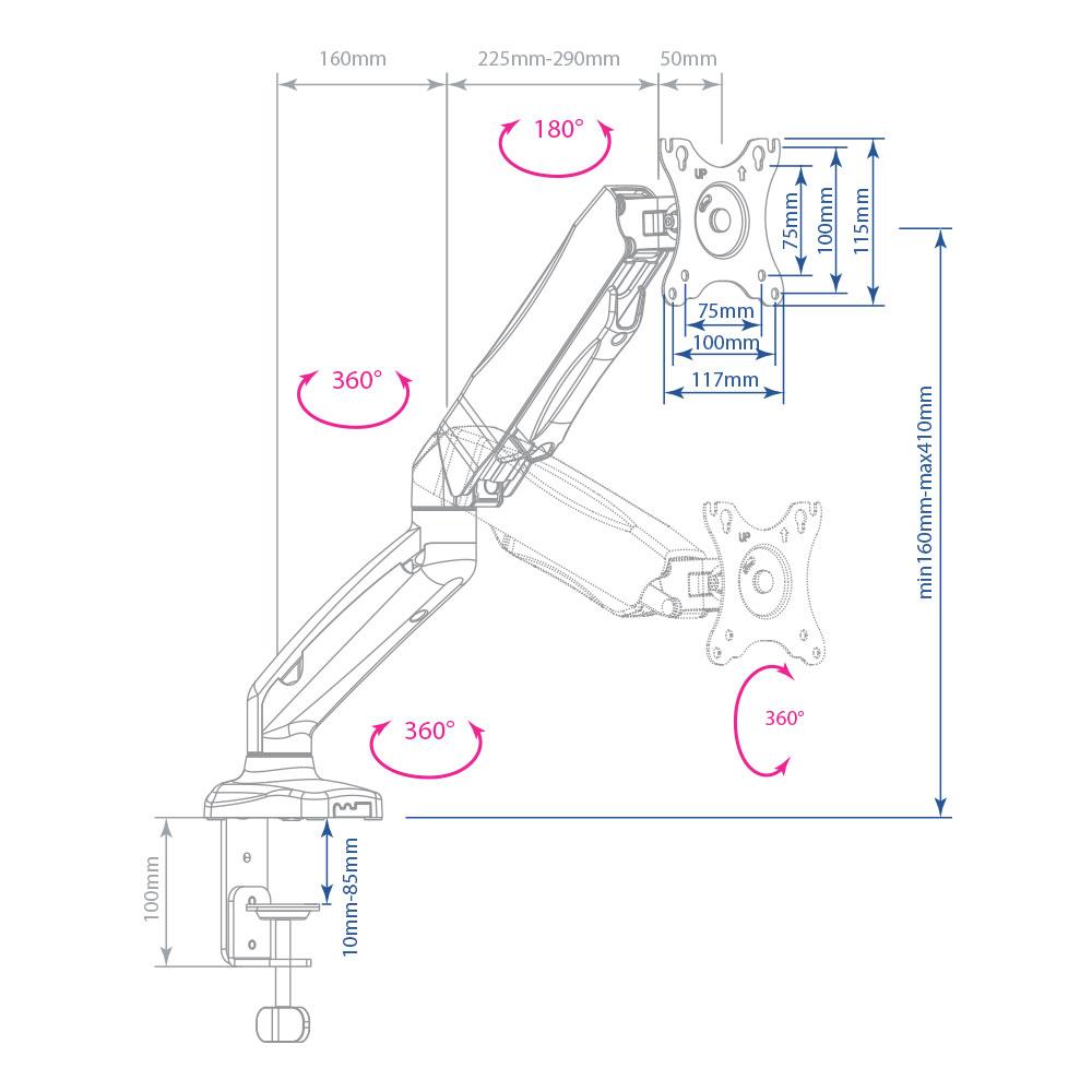 Кронштейн Arm Media LCD-T21W