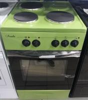 Электроплита Лысьва ЭП 301 МС зеленая, без крышки
