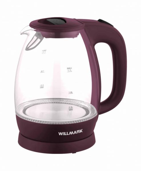 Электрочайник Willmark WEK-1705GC вишневый