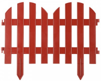 Забор декоративный Grinda Палисадник, 28x300см, терракот 422205-T
