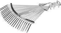 Грабли Grinda, веерные регулируемые усиленные, 22 плоских зубца 421873