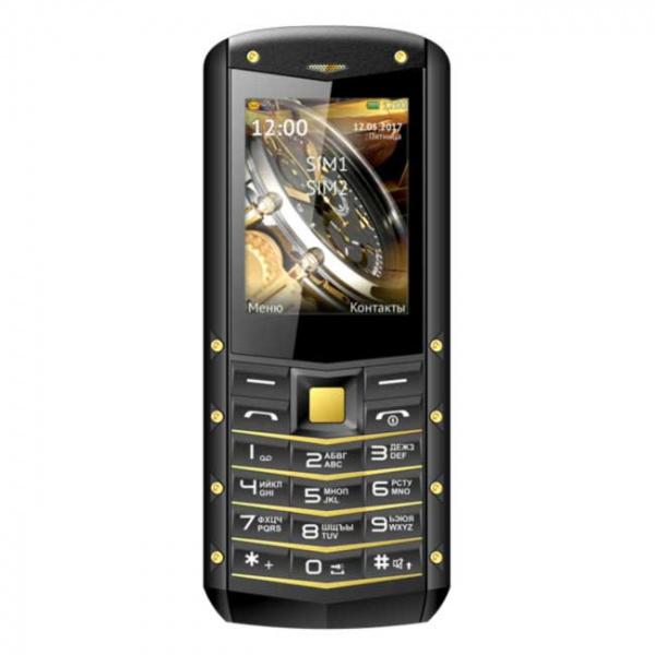 Сотовый телефон Texet TM-520R черный-желтый (Dual Sim)