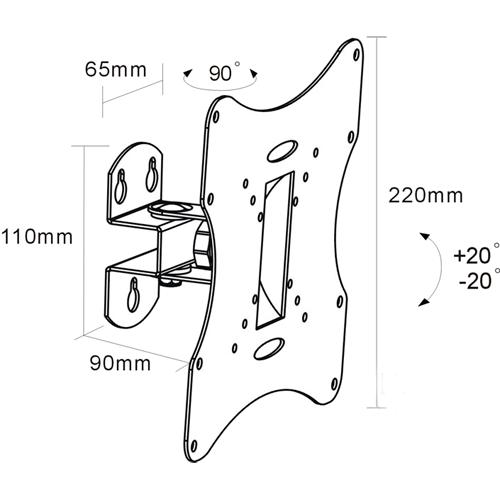 Кронштейн для LED/LCD телевизоров Arm Media LCD-201 black