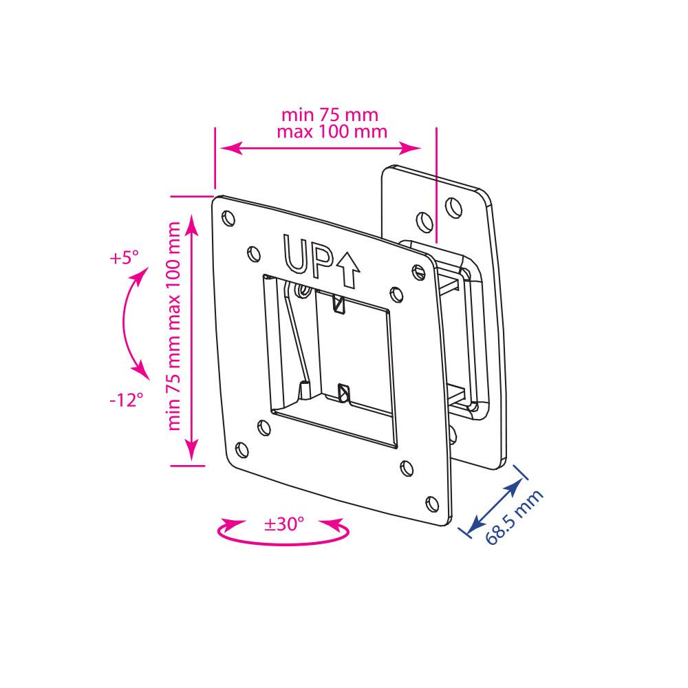 Кронштейн для LED/LCD телевизора Kromax OPTIMA-102 black