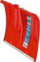 Лопата снеговая Сибин пластиковая с алюминиевой планкой, без черенка, 385мм, красная, 421832