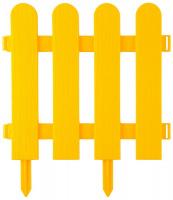 Забор декоративный Grinda Штакетник, 29x224см, желтый 422209-Y