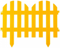 Забор декоративный Grinda Палисадник, 28x300см, желтый 422205-Y