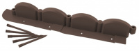 Бордюр декоративный Grinda Волна, 9х256см, коричневый 422229
