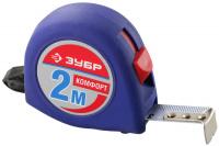 """Рулетка Зубр 34016-2 """"СТАНДАРТ"""", корпус с резиновым напылением, 2м/16мм"""