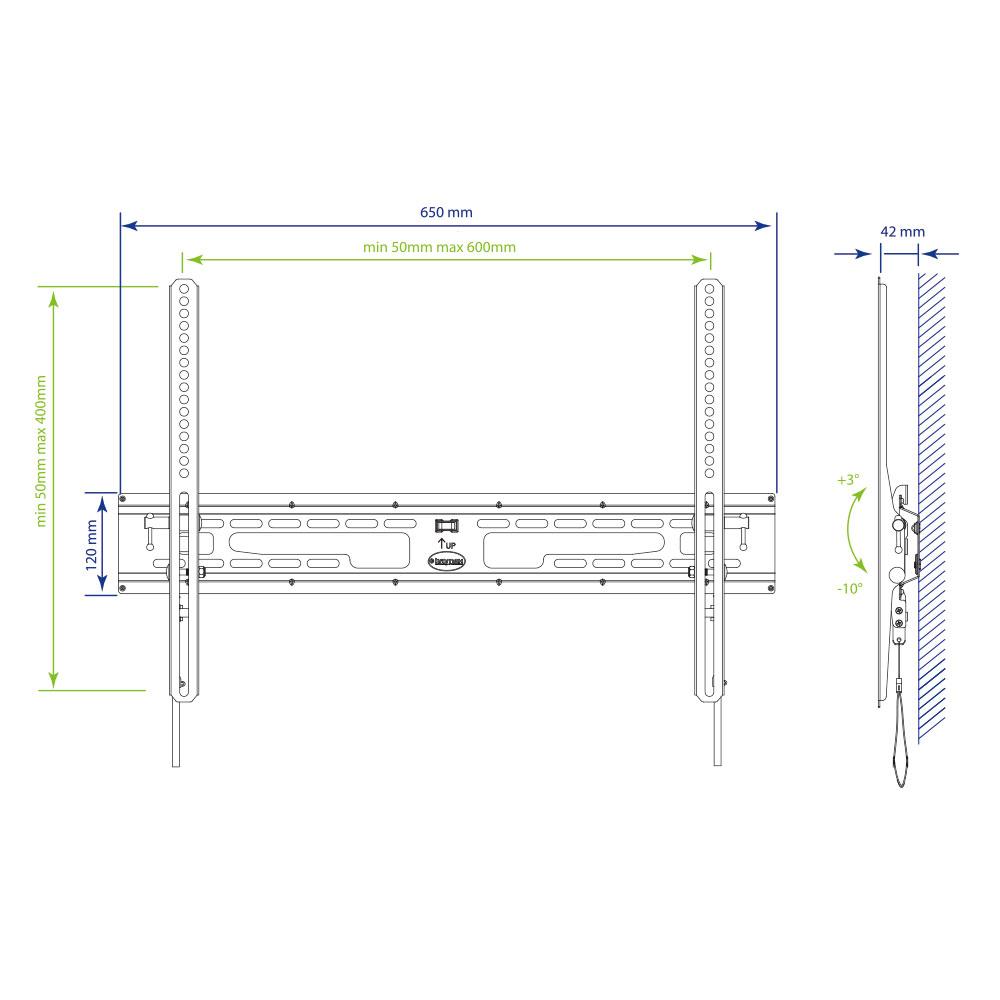 Кронштейн для LED/LCD телевизора Kromax FLAT-2 new black