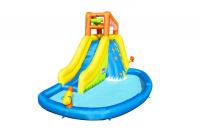 Водный игровой-центр Mount Splashmore Bestway 53345 BW с разбрызгивателем и горкой 435x286x267см