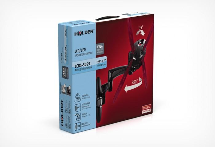 Кронштейн Holder LCDS-5029 черный глянец