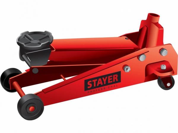 """Домкрат гидравлический подкатной Stayer 43155-3.5 """"Red Force"""""""