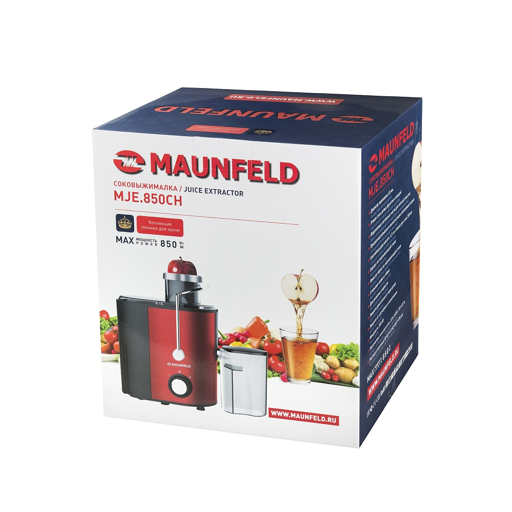 Соковыжималка Maunfeld MJE.850CH вишневый с перламутром