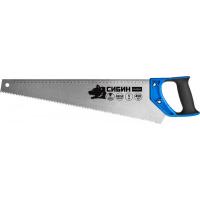 Ножовка Сибин, 450 мм, шаг 5 TPI (4,5 мм), 15055-45