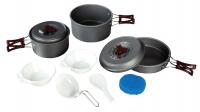 Набор посуды BTrace 2-3 перс (котел.1,8л,котел.1л,сковор.,лопатка,повар.,пласт.тар.2шт, губка,мешок д/хран) 4-21719