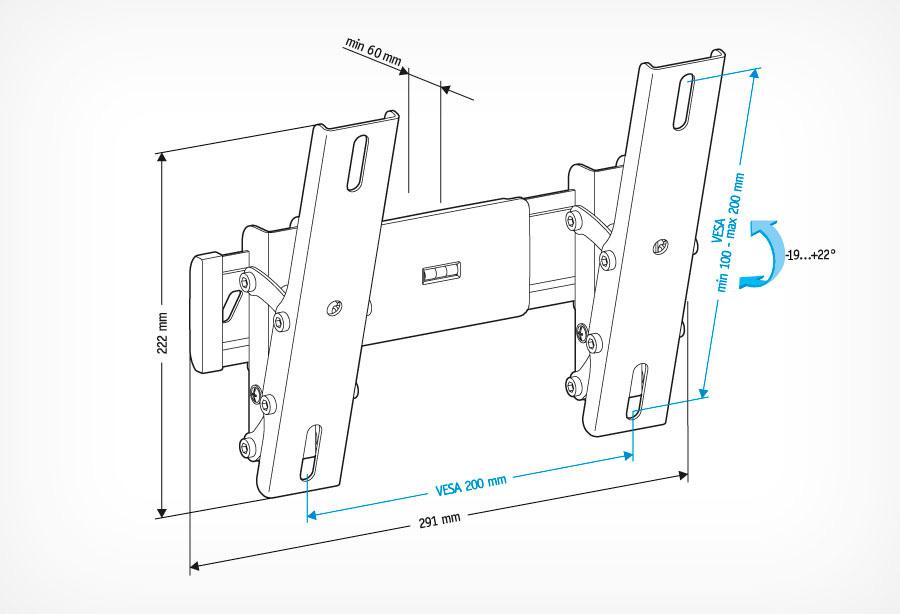 Кронштейн Holder LCD-T2611 черный