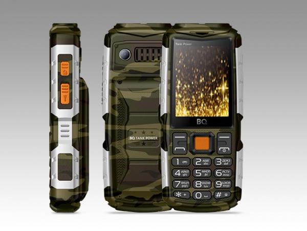 Сотовый телефон BQ 2430 Tank Power Camouflage+Silver