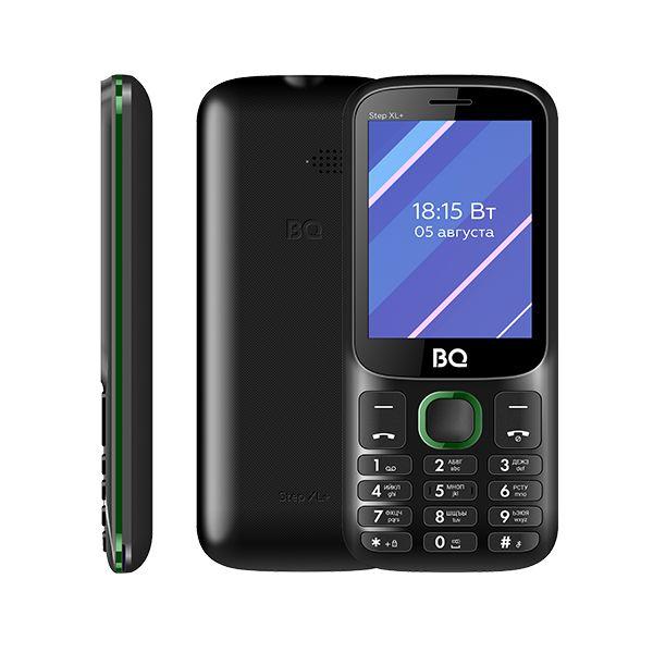 Сотовый телефон BQ 2820 Step XL+, Black+Green