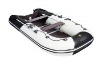 Лодка ПВХ Ривьера 3200 СК Компакт Комби черно/светло-серая Л-355