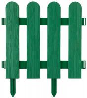 Забор декоративный Grinda Штакетник, 29x224см, зеленый 422209-G