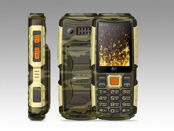 Сотовый телефон BQ 2430 Tank Power Camouflage+Gold