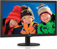 "Монитор 21.5"" Philips 223V5LSB2/10(62) Black (LED, 1920x1080, 5 ms, 90°/65°, 200 cd/m, 10M:1)"