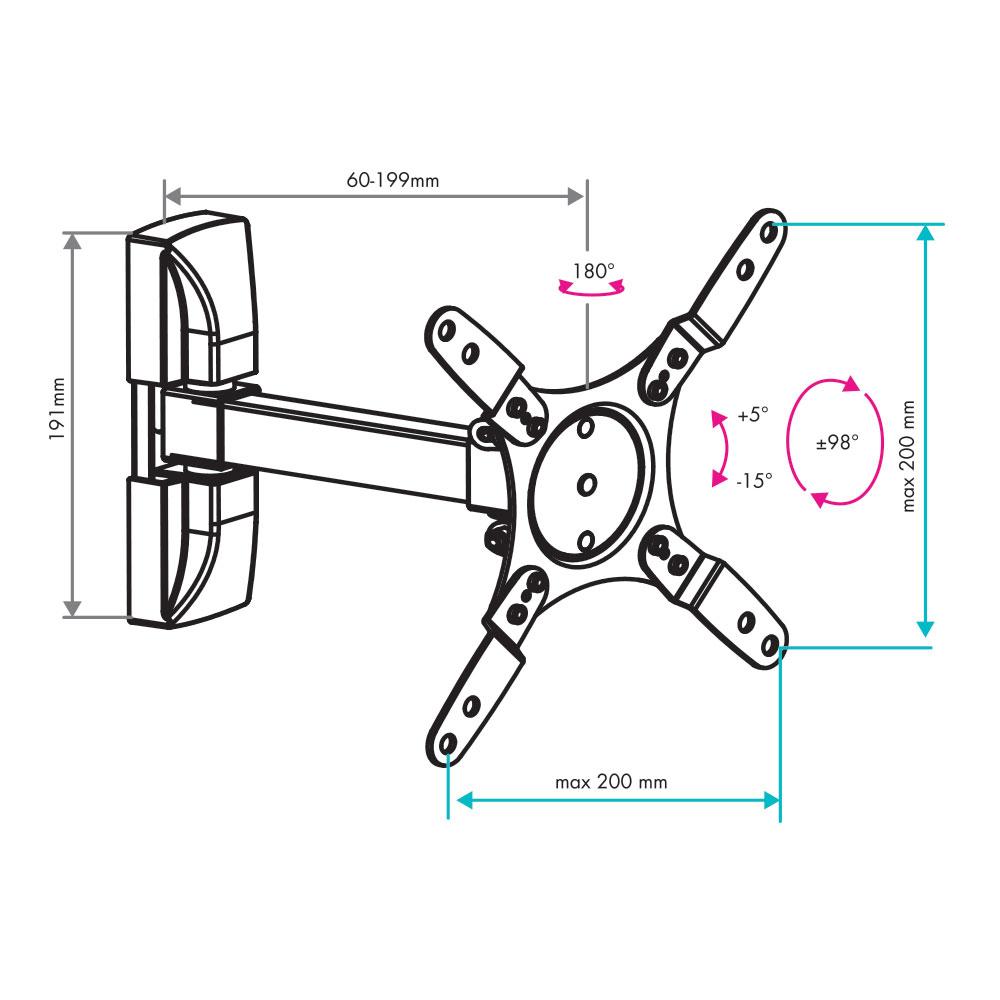 Кронштейн для LED/LCD VLK TRENTO-104 black