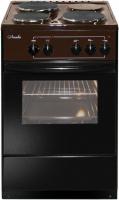 Электроплита Лысьва ЭП 301 коричневая черное стекло